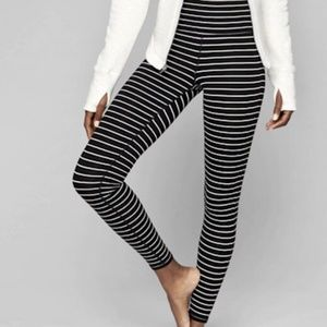 Athleta High Rise Striped Chaturanga Leggings M